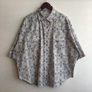 【H.UNIT】Bandana print westen dolman S/S shirt Blaue