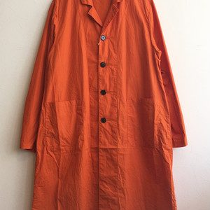 【H.UNIT】Broadcloth long atelie coat Orange