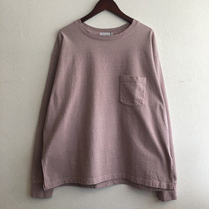 【FEW FABRICS】SUPER WEIGHT DRY WIDE L/S TEE PINK