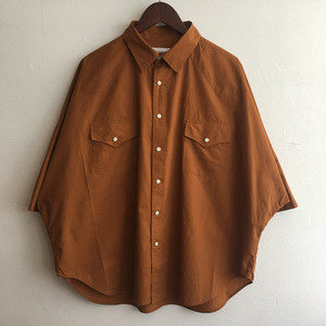 【H.UNIT】Typewriter western dolman S/S shirt Nuts
