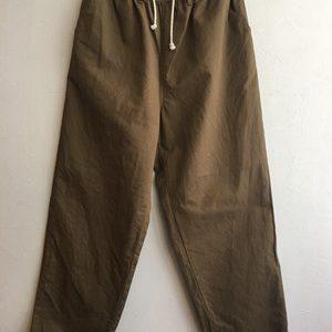 【H.UNIT】C/L kersey cook pants BEIGE