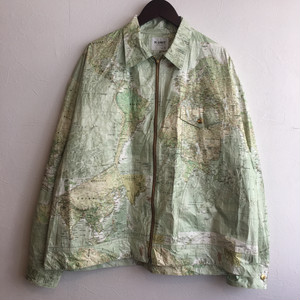 【H.UNIT】Tybec world map zip work jacket