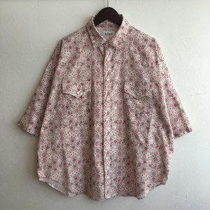【H.UNIT】Bandana print westen dolman S/S shirt Red