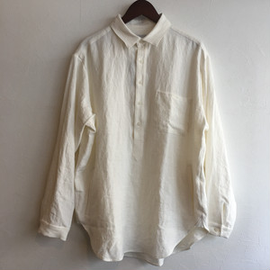 【FEW FABRICS】SWEDISH NATURAL DYED LINEN SHIRT WHITE