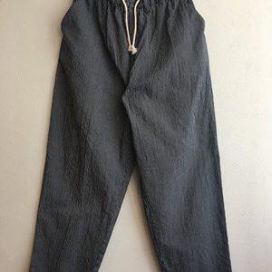 【H.UNIT】Cord stripe easy cook pants Navy