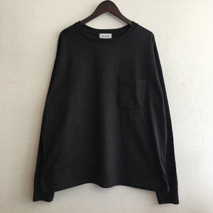 【FEW FABRICS】SUPER WEIGHT DRY WIDE L/S TEE BLACK