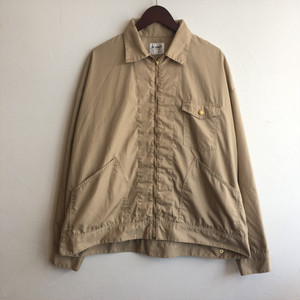 【H.UNIT】T/C poplin zip work jacket BEIGE