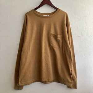 【FEW FABRICS】SUPER WEIGHT DRY WIDE L/S TEE BEIGE