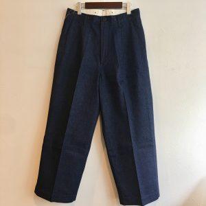 【H.UNIT】Denim crown size tuck trouser Indigo