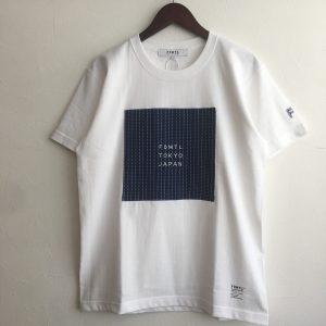 【FDMTL】SQUARE SASHIKO TEE WHITE