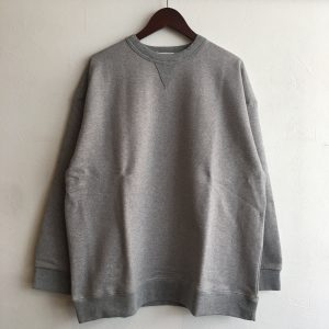 【weac.】TERRY WIDE SWEAT GRAY