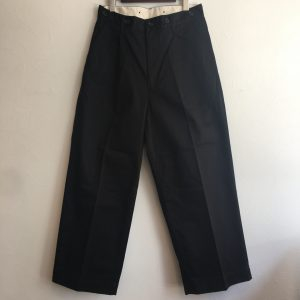 【H.UNIT】Chino crown size tuck trouser BLACK