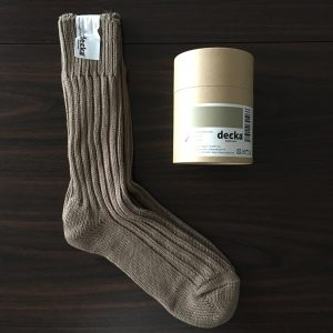 【decka】heavy weight socks beige