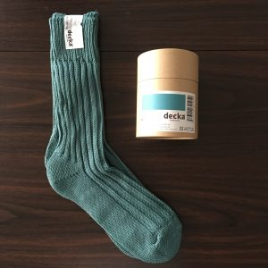 【decka】heavy weight socks cadeblue