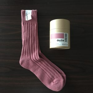 【decka】heavy weight socks flamingo
