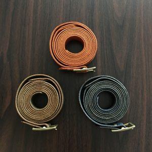 【The Hue】Long-Long Belt Orange/Olive/Navy