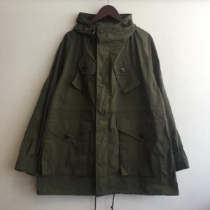 【H.UNIT】Nylon combat coat KHAKI