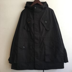 【H.UNIT】Nylon combat coat BLACK