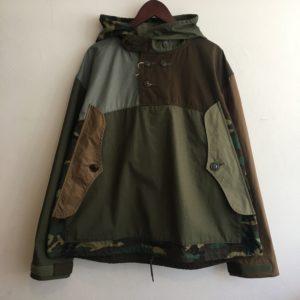 【H.UNIT】Ripstop crazy anorak hoodie