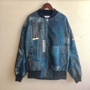 【FDMTL】BORO BOMBER PLEATS JACKET NAVY