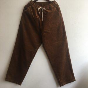 【H.UNIT】8w corduroy easy cock pants Brown