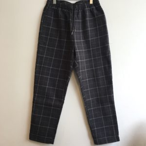 【weac.】RELAX PANTS Black×Gray check