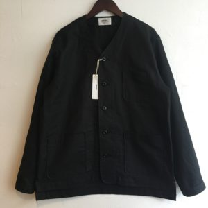 "【weac.】""VICTOR"" Nocollar shirt Black"