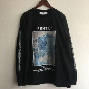 【FDMTL】BORO GRAPHIC L/S TEE BLACK