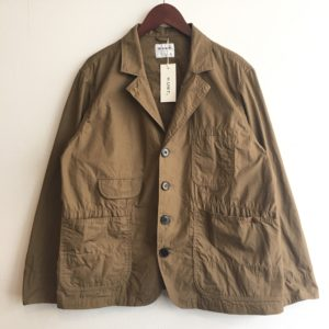 【H.UNIT】weather cloth coverall Beige