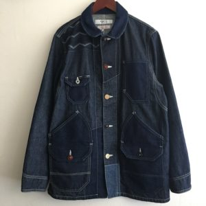 "【FDMTL】""20SS""PATCHWORK COVERALL RINSE INDIGO"