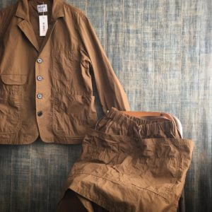 【H.UNIT】weather cloth coverall & apron pant.