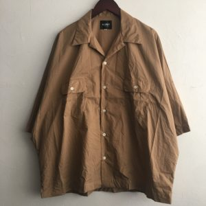 【H.UNIT】Dolman open collar S/S shirt Beige