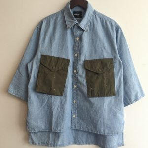 【H.UNIT】Indigo chambray customized shirt
