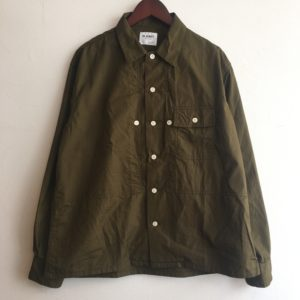 【H.UNIT】broadcloth triple pocket L/S shirt Khaki