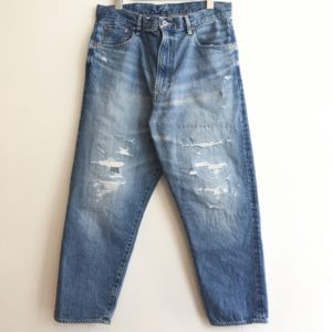 【H.UNIT】Indigo denim cropped 5P customized