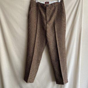 【melple】Beach Tailor Summer Tweed Pants BROWN