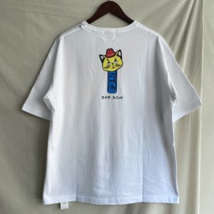 【H.UNIT】Cat tee White