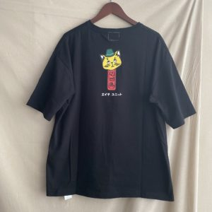【H.UNIT】Cat tee Black