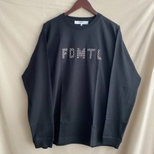 【FDMTL】SASHIKO LOGO L/S TEE BLACK