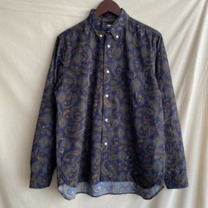 【weac.】BASIC SHIRTS PAISLEY NAVY