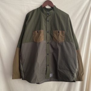 【FDMTL】SIDE ZIP OVERSIZED SHIRT KHAKI