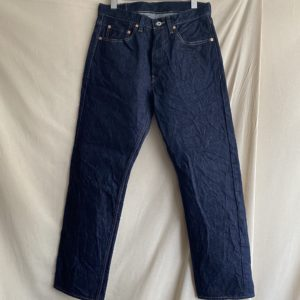 【H.UNIT】Raw denim regular tapered 5P Inddigo