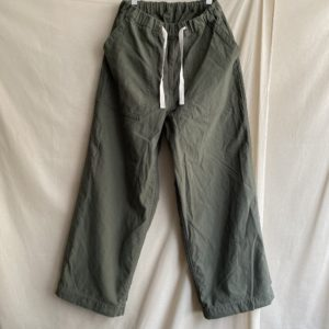 【H.UNIT】Backsatin crownsize baker pabts Khaki