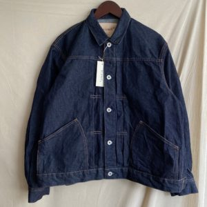 【H.UNIT】Left hand denim work jacket Indigo