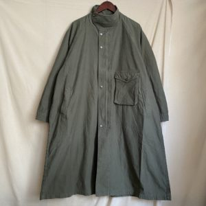 【H.UNIT】Backsatin gascape coat Khaki