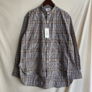 【H.UNIT】Check bandcollor L/S shirt Brown