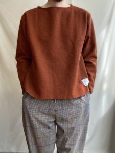 【BLOG】Boild wool cut off basque shirt Kakiiro!