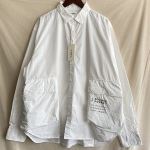 【H.UNIT】Typwriter ecobag L/S shirt White