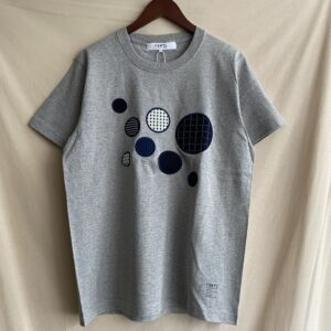 【FDMTL】SASHIKO CIRCLE PATCH S/S TEE GRAY