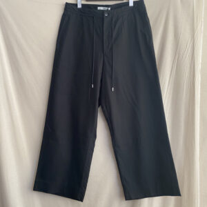 【amne】DRAPEY trouser BLACK